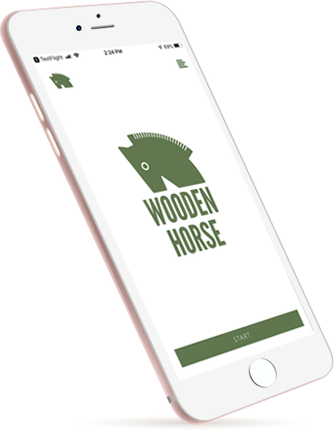 wooden horse mobile phone